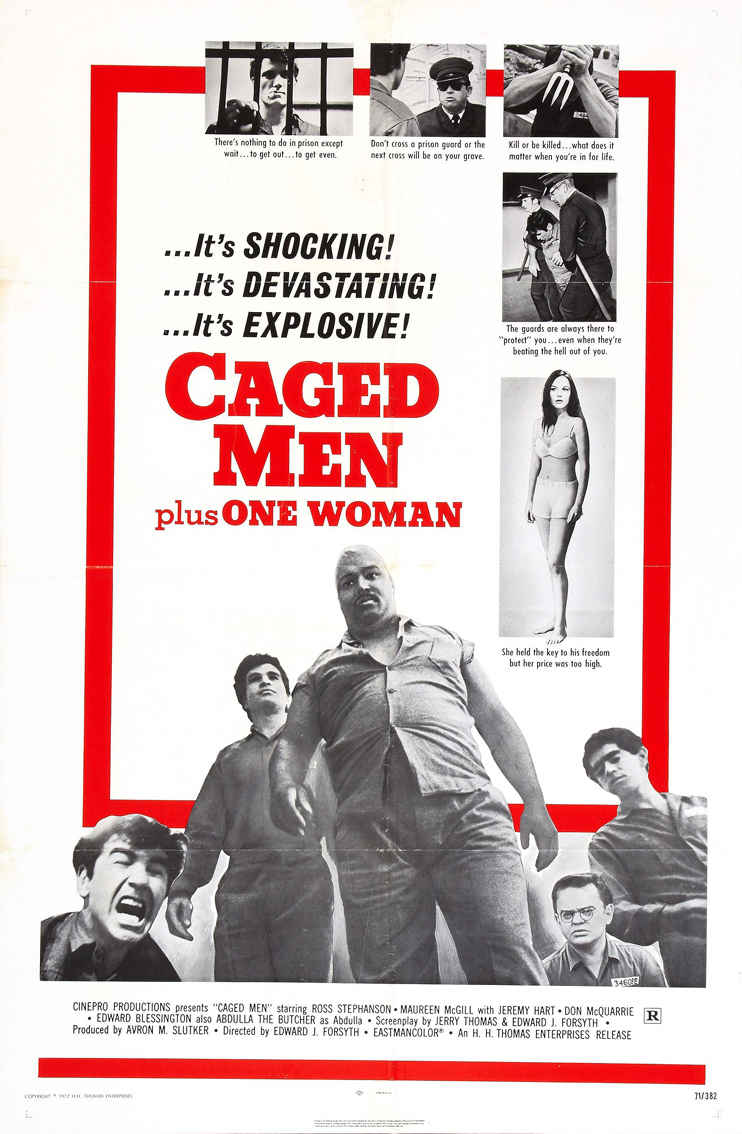 Caged men plus one woman poster 01.jpg