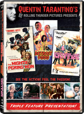 quentin tarantino s rolling thunder pictures triple feature from the grindhouse cinema database